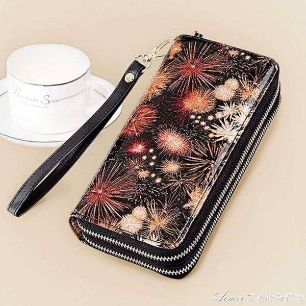 手拿包新款真皮女士雙拉漣錢包大容量可放手機的手拿包卡包零錢包 快速出貨