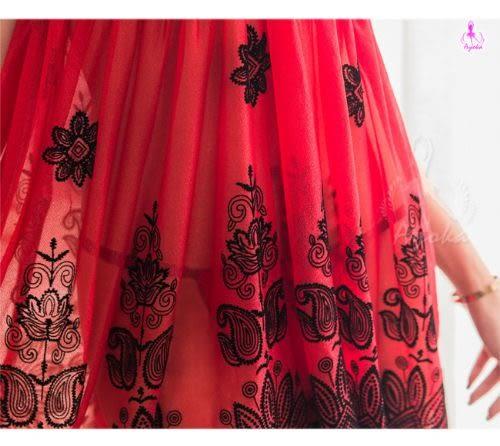 睡衣 性感睡衣 星光密碼【E141】黑紅撞色深V柔紗二件式情趣性感睡衣
