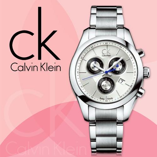 CK手錶專賣店 K0K28120 K0K28107 女錶 三眼計時 夜光指針 石英 不鏽鋼錶帶 礦物抗磨玻璃