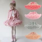 兒童蛋糕裙百褶裙寶寶蓬蓬裙女童網紗裙半身裙短裙tutu 洛小仙女鞋