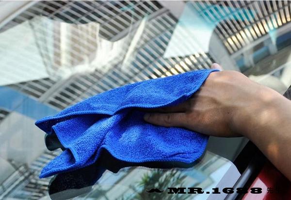 汽車洗車毛巾 小號擦車巾30*30清潔毛巾擦車布 超細纖維 3m【Mr.1688先生】