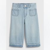 Gap女幼淺色水洗牛仔休閒短褲539039-淺藍色