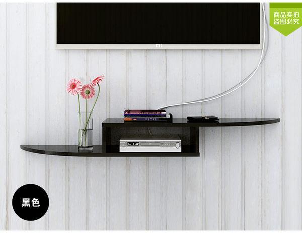 電視隔板牆上置物架壁挂CD架【藍星居家】