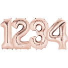 26吋玫瑰金數字鋁箔氣球(不含氣)-0到9