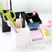 得力9118多功能時尚筆筒 桌面創意收納盒 黑白塑料簡潔辦公筆座·ifashion