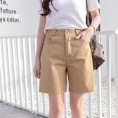 五分褲女寬鬆直筒2020新款外穿ins潮中褲高腰夏bf風闊腿工裝短褲 韓國時尚週