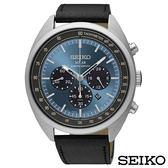 SEIKO精工  個性魅力視距儀三眼太陽能石英腕錶 SSC625P1