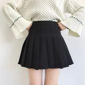 韓國MM網球裙高腰修身短裙 學院風學生半身百褶裙女 挪威森林