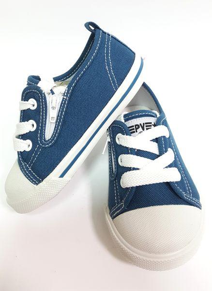 專櫃普萊米  MIT 寶寶帆布鞋《7+1童鞋》C559藍色