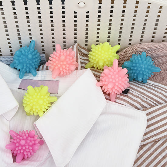 洗衣球 防纏繞 洗衣服 清潔球 PVC 魔力洗護球 護洗球  不打結 衣物 洗衣球(小-1入)【S049】慢思行