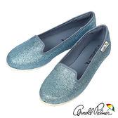 Arnold Palmer - 時尚簡約金蔥平底休閒鞋 127-藍
