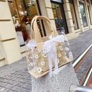 斜背包/側背包 夏季小包包女包2020新款潮洋氣百搭透明斜挎包ins網紅單肩小方包