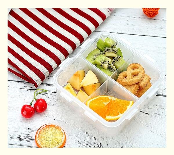分格便當盒保鮮盒帶飯餐盒塑膠飯盒水果盒便攜【奇妙商鋪】