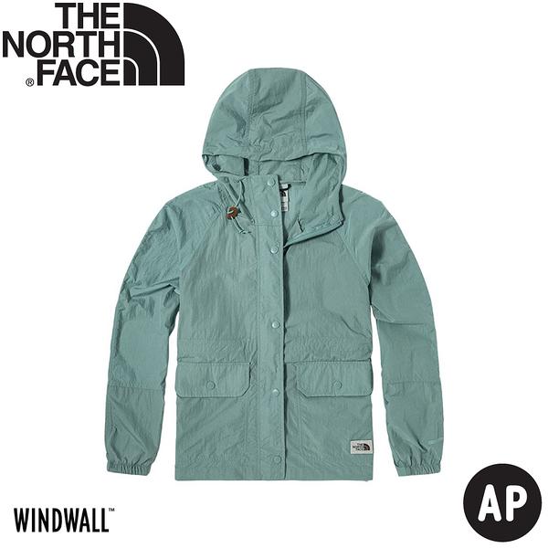 【The North Face 女 防風外套 AP《粉綠》】5AY9/衝鋒衣/防水外套/風雨衣