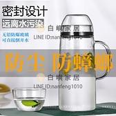 全密封防塵玻璃冷水壺2L大容量涼白開水杯耐熱高溫防爆家用放冰箱【白嶼家居】