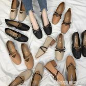 女鞋2019新款春季奶奶鞋粗跟單鞋2018韓版春秋百搭中跟豆豆鞋子女      橙子精品