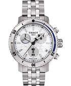 TISSOT 天梭 PRS200 Steven Stamkos 三眼計時手錶-銀 T0674171101100