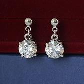 耳環 925純銀鑲鑽-簡約時尚生日情人節禮物女耳針2色73gt135【時尚巴黎】