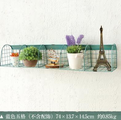 Zakka美式鄉村鐵藝收納架置物架壁飾傢居儲物筐日式花架挂件
