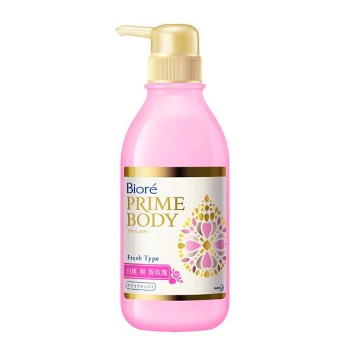 蜜妮Biore極緻精華油沐浴露-白桃與粉玫瑰500ml【愛買】