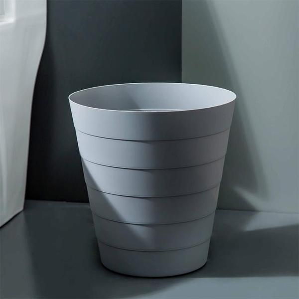 2個裝 家用垃圾桶廚房臥室客廳衛生間垃圾筒無蓋塑料紙簍【輕奢時代】