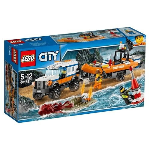 LEGO 樂高 City Coast Guard 4 x 4 Response Unit 60165 (347 Piece)