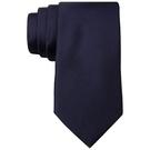 CK 男時尚King Cord深藍色真絲窄領帶