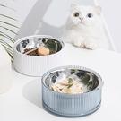 JohoE嚴選 寵物碗兩用不鏽鋼碗-藍(MS5ABC2B)