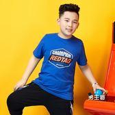 童裝男童短袖t恤夏裝普哆衣2019新款中大童胖男孩寬鬆兒童體恤