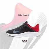 Nike 慢跑鞋 Quest 3 黑 紅 基本款 運動鞋 入門 路跑 男鞋【ACS】 CD0230-016