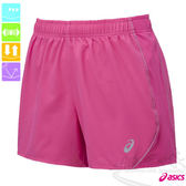 ASICS亞瑟士 LITE SHOW女慢跑褲(粉紅) 路跑短褲 可拆卸式裡褲運動短褲 反光素材