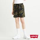 Levis 男款 休閒短褲 / 水波紋迷彩 / 潮流Logo扣頭腰帶