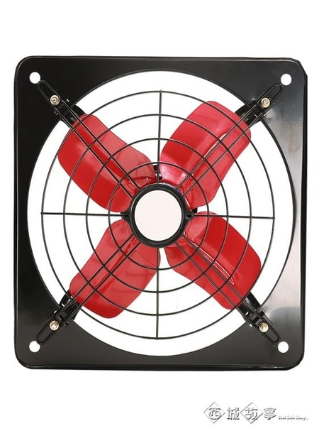 強力排氣扇廚房窗式排風扇12寸抽風機家用衛生間通風抽油煙換氣扇 西城故事