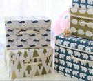 收納盒    可愛布藝圖騰棉麻收納箱(9L) 刺蝟 鯨魚 文具 收納箱   【BNA032】-收納女王