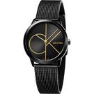 Calvin Klein CK Minimal 經典大LOGO腕錶-黑/ 35mm K3M224X1