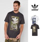 【GT】Adidas Originals 深灰白 短袖T恤 純棉 迷彩 印花 運動 休閒 上衣 短T 愛迪達 三葉草 Logo