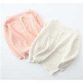 清新簍空針織長袖外套 氣質搭配 冷氣房 小外套 薄長袖 薄外套 開衫 女童 寶寶 童裝 橘魔法 現貨