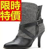 真皮短靴-優雅魅力好搭高跟女靴子2色62d100[巴黎精品]