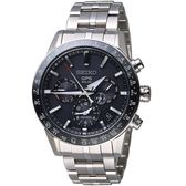 SEIKO精工ASTRON GPS 5X53雙時區鈦金屬腕錶 5X53-0AB0D SSH003J1 黑