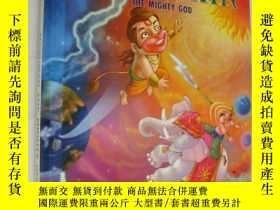 二手書博民逛書店HANUMAN:The罕見Mighty God 精裝彩繪本大16