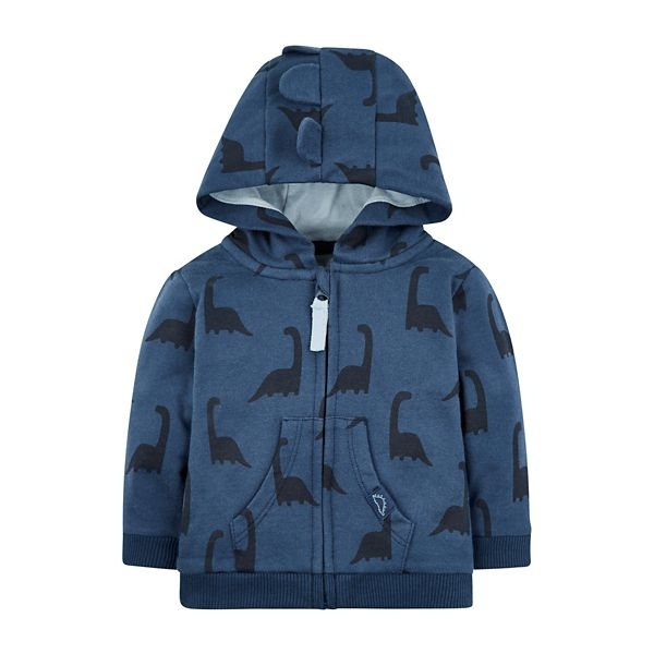 mothercare 藍色恐龍連帽外套-摩登世界(M0QD709)06M~12M