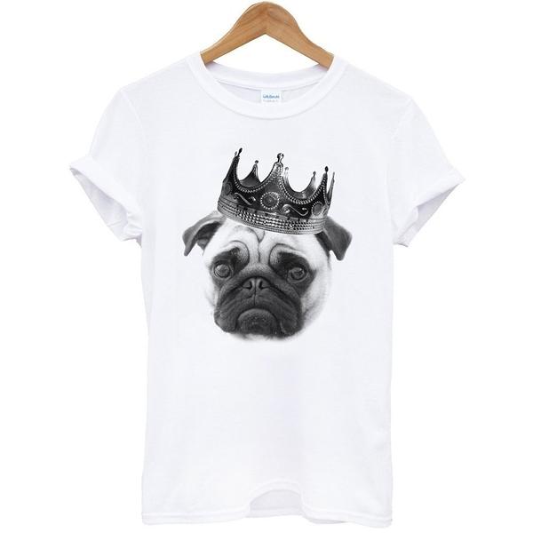 Notorious PUG短袖T恤-白色 八哥柴犬日文動物狗貓街頭 t 成人Gildan亞洲版型