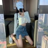 短裙 包臀裙女夏季新款時尚韓版氣質性感高腰顯瘦開叉牛仔半身 - 巴黎衣櫃