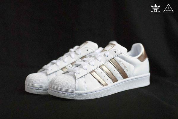 ISNEAKERS Adidas SUPERSTAR 金標 香檳金 玫瑰金 韓國限定 女鞋 CG5463