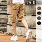 大尺碼短褲 街頭風格‧側邊立體口袋設計造型車線休閒工作短褲‧大尺碼‧四色【NTJB1324】-TAIJI-
