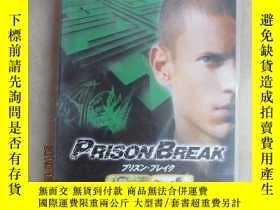 二手書博民逛書店外文罕見越獄 PRISON BREAK( 塑封 DVD 8碟裝)