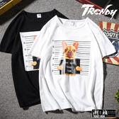 『潮段班』【HJ000B10】M-5L素色純棉惡搞法鬥短袖上衣T恤