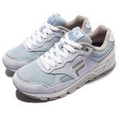 FILA 復古慢跑鞋 J311R 粉藍 灰 白 麂皮 運動鞋 休閒鞋 女鞋【PUMP306】 5J311R341