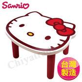 【Hello Kitty】台灣製大頭造型矮凳椅子-白(正版授權)
