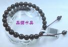 『晶鑽水晶』茶水晶手鍊6mm圓珠*特賣中